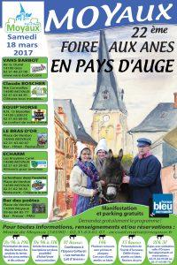 Affiche foire aux ânes moyaux calvados Normandie